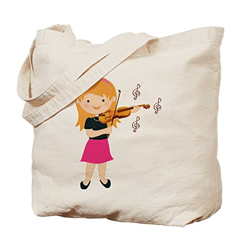 CafePress Violin Natural Canvas Shopping