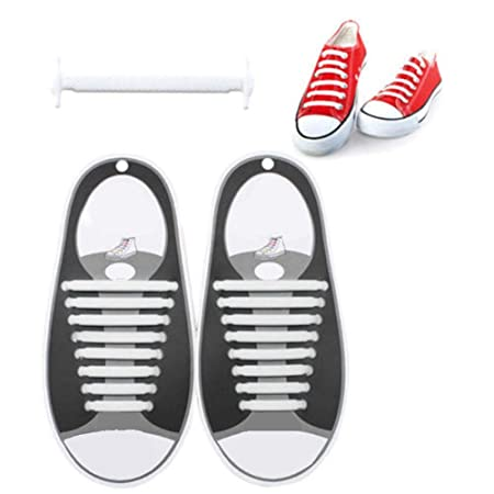 xiangpian183 No Tie Shoes Lace Lazy Creative Silicone