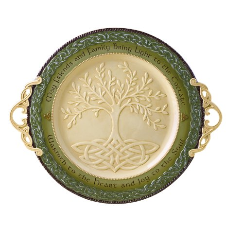 Grassland Road Celebrating Heritage Platter, 16-Inch Round (Home Decor Gift Basket)