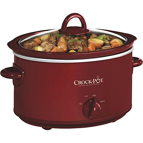 Crock-Pot SCV401-TR 4-Quart Manual Slow Cooker, Red