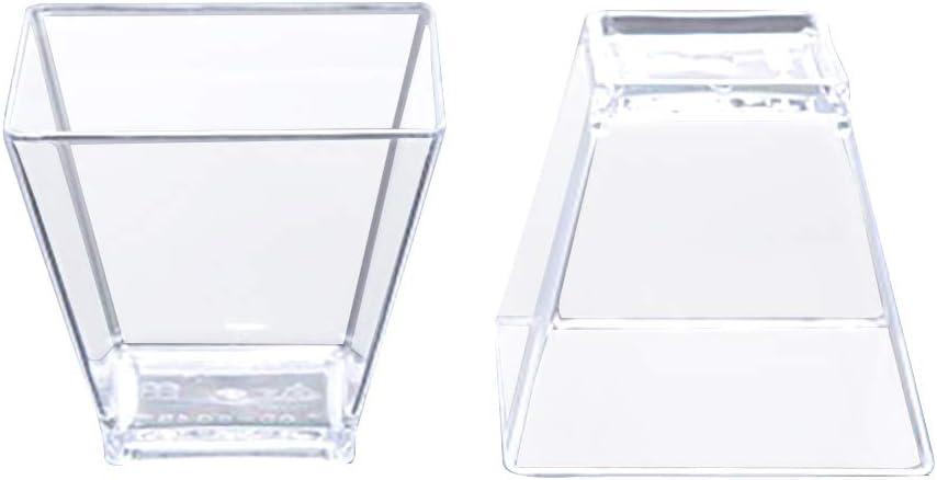 Vasos de postre, 50 unidades, aptos para lavavajillas, mini ...