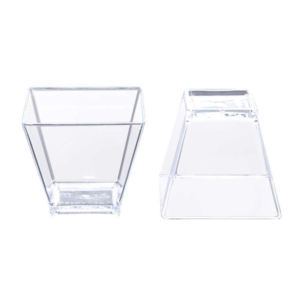 50 unidades Tama/ño libre trapezoidal duraderos mini gelatina accesorios de pud/ín fiestas Vasos de postre panader/ía aptos para lavavajillas As Picture Show