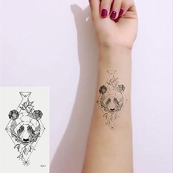 Oottati 2 Hojas Pequeño Lindo Tatuaje Temporal Tattoo Panda ...