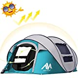 Instant 4-Person Pop Up Camping Tent is spacious enough to bring your family, friend, or pet along, and can be set up automatically. No more fumbling with tent poles or spending valuable vacation time on instruction manuals! 3-4 Person Camping Dome ...