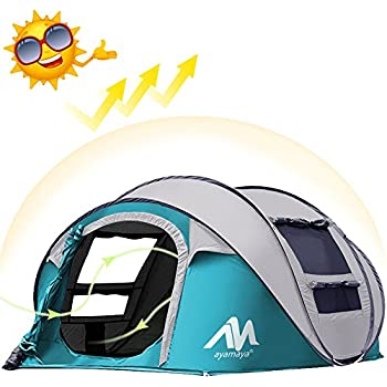 Amazon Com Ayamaya Camping Tents 3 4 Person People Easy