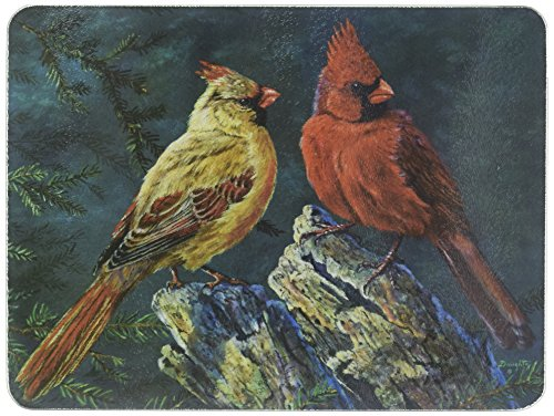 (Rivers Edge Cardinals Glass Cutting Board)