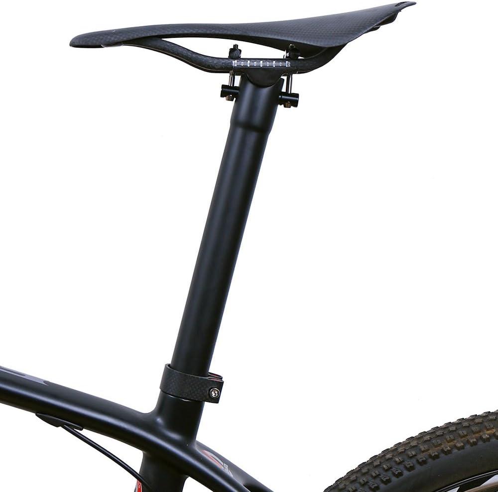 fibra de carbono, 135 g, titanio mate, 27,2 30,8 31,6 mm x 300 350 400 mm Tija de sill/ín LRGCarbon para bicicleta