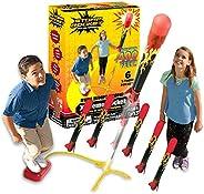 Stomp Rocket The Original X-Treme Rocket Launcher, 6 Rockets and Air Rocket Launcher - Outdoor Rocket STEM Gif