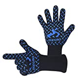 BBQ Gloves, IREGRO Grilling Cooking Gloves Heat Resistant Forearm...