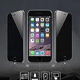 AMOVO iPhone 6S 用 iPhone 6S 液晶保護フィルム iPhone 6S フィルム 強化ガラス 0.26mm 0.25D 超耐久・超薄型 のぞき見防止 プライバシーフィルム iPhone 6 保護フィルム iPhone 6 ガラスフィルム 表面硬度9H 気泡ゼロ 指紋防止機能フィルム( iPhone 6/6s, 覗き見防止)