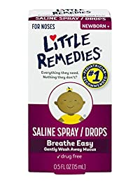 Little Remedies Noses Saline Spray/Drops, 0.5 Ounce BOBEBE Online Baby Store From New York to Miami and Los Angeles