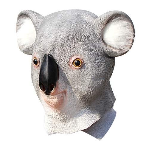 Qupida Novelty Latex Koala Bear Mask Animal Helmet Full Head Halloween Party Cosplay Costume Props]()