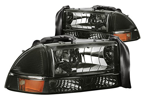 DNA Motoring HL-OH-DD974P-SM-AM Headlight Assembly, Driver & Passenger -