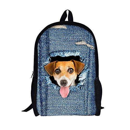 Dog Backpack Patterns Unisex And Bag Casual 3D Cat Patterns For School Daypack Cute Boys School dog Girls ZHANGQIAN Bags Shoulder Rucksack Travel Cartoon Perfect AwnIXq0xq