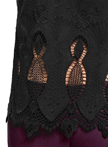 Blouse oodji Coton en 2900n Femme Collection Ajoure Noir qxwqRgr1