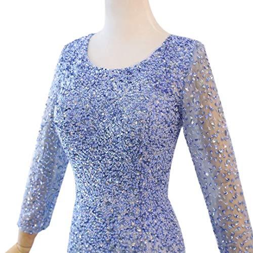 rmeln Love Lange Langen Prom Formale Maxi Frauen Strass Kleider King's Himmelblau Abendkleider mit dPvqtP