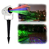 Christmas Decoration Laser Light,Waterproof Automatic Rotating Star Laser Lamp for Xmas,Star Shower Landscape Lamp with RF Wireless Remote for Holiday Festival & Party