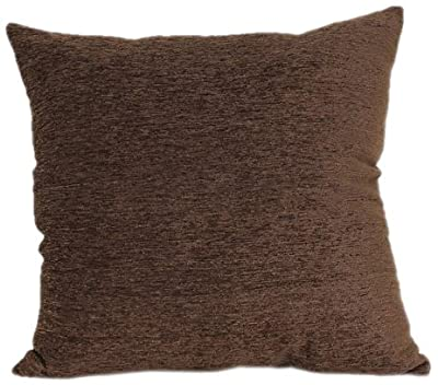 Brentwood 3438 Crown Chenille Floor Cushion, 24-Inch, Chocolate