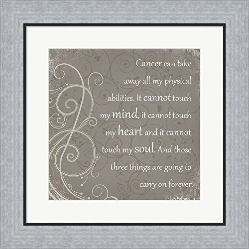 My Mind, My Heart, My Soul - Jimmy V Framed Art Print Wall Picture, Flat Silver Frame, 19 x 19 inches