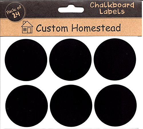 Circle Chalkboard Labels Set Organization product image