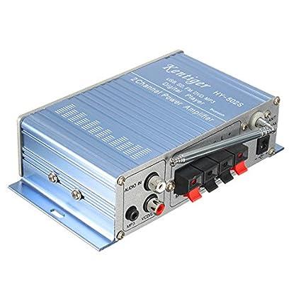 YONGYAO Kentiger Hy502S 12V Mini Motos Car Hi-Fi, Alta Fidelidad Amplificador Estéreo Amp
