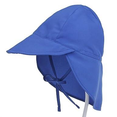 Amazon.com  Outdoor Kids Swim-Hats with Ear-Flap Baby Sun-Protection ... 47e0c8edc48