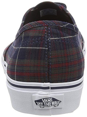 Vans Authentic, Zapatillas de skateboarding Unisex Azul (Plaid - Dress Blues)