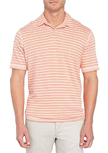 Shirt Silk Dragon (Tommy Bahama On The Flip Reversible Stripe Golf Polo Shirt (Color: Sea Dragon, Size XL))