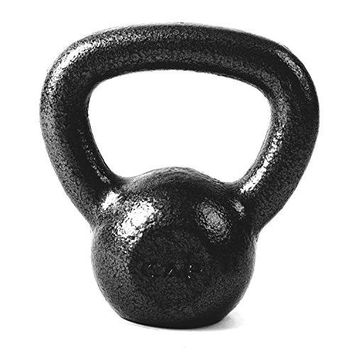 CAP Barbell Cast Iron Kettlebell, Black, 25 lb.