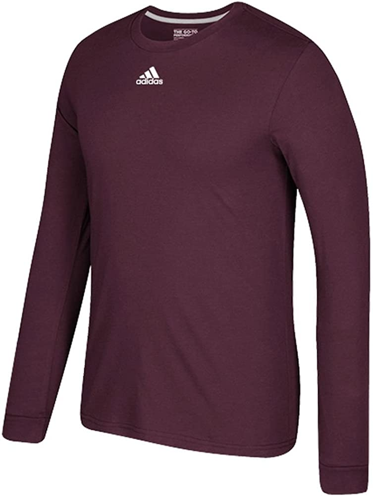 629T adidas Go-to Performance Slim Fit Long Sleeve T-Shirt