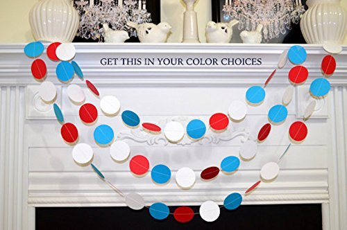 (Dr. Seuss Cat in the Hat Baby Shower Decorations, red white blue, Dr Seuss, baby shower garland)