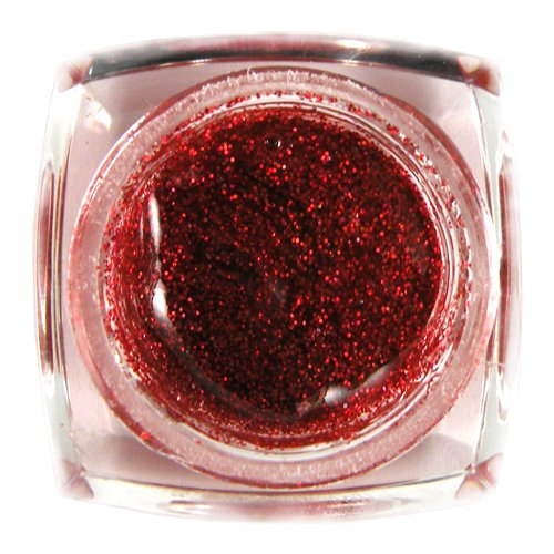 Beauties Factory Nail Art UV Gel Red Glitter ¡V 8ml