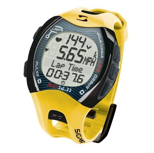 Dial Yellow Markers (Sigma RC14.11 Running Heart Rate Monitor (Yellow))