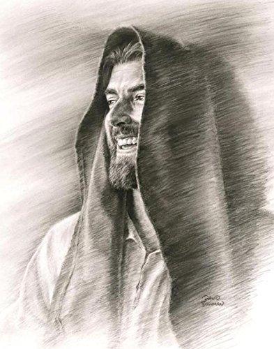 Rejoice - 11''x14'' Wall Art Print Jesus Christ Smiling by David Bowman Religious Spiritual Christian Fine Art by David Bowman