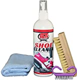 Quick'n Brite Shoe Cleaner Bundle,12 Oz. Fabric Cleaner Solution, Microfiber Cloth, and Brush