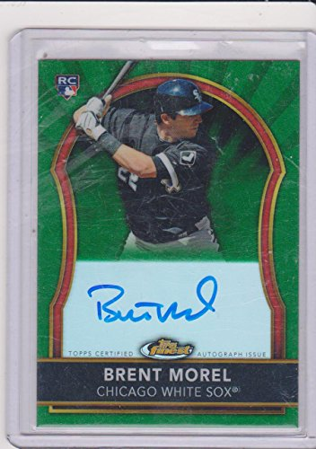 2011 Topps Finest Brent Morel White Sox 4/199 Autographed Insert Rookie Baseball Card (Morels Card Game)