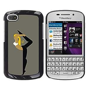 TopCaseStore / la caja del caucho duro de la cubierta de protección de la piel - Flexible Woman - BlackBerry Q10