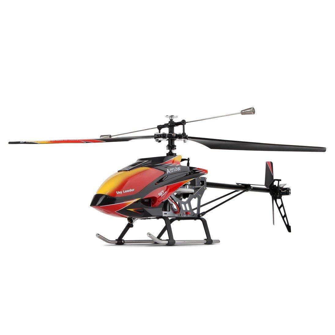 ToGames-DE Wltoys V913 Brushless 2.4G 4CH Single Blade Eingebauter Gyro Super Stabile Flug Hohe Effizienz Motor RC Hubschrauber