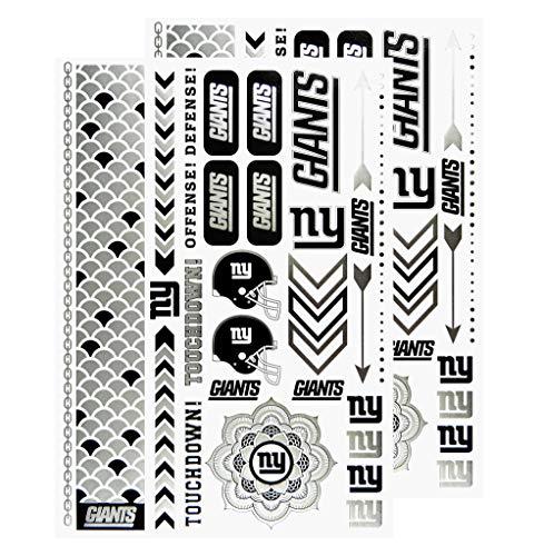 (NFL New York Giants Metallic Body Jewelry Stickers)