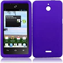 LF Purple Hard Case Cover, Lf Stylus Pen and Wiper For TracFone, StraightTalk, Net 10 Huawei Ascend Plus H881C
