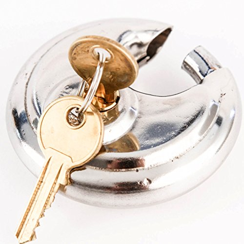 s Disc Padlock Shackle Trailer Self Storage Single Lock with 2 Keys ()