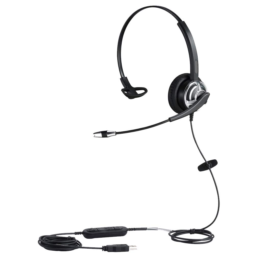 USB Headset with Noise Cancelling Microphone and Volume Controller for Conference Calls Softphone Conversation Clear Chat Online Course etc by MKJ
