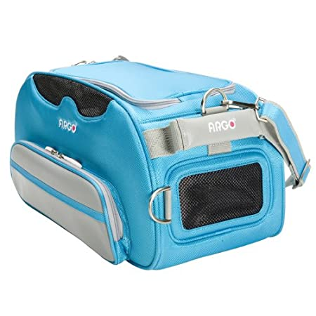 9d0d9c51ff Amazon.com : Teafco Argo Airline Approved Aero-Pet Carrier, Small, Berry  Blue : Soft Sided Pet Carriers : Pet Supplies