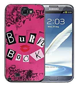 Samsung Galaxy Note 2 Black Rubber Silicone Case - Burnbook Regina George Mean Girls Burn Book