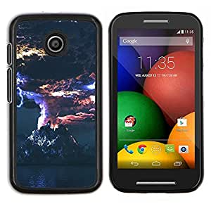 LECELL--Funda protectora / Cubierta / Piel For Motorola Moto E -- Erupción volcánica --