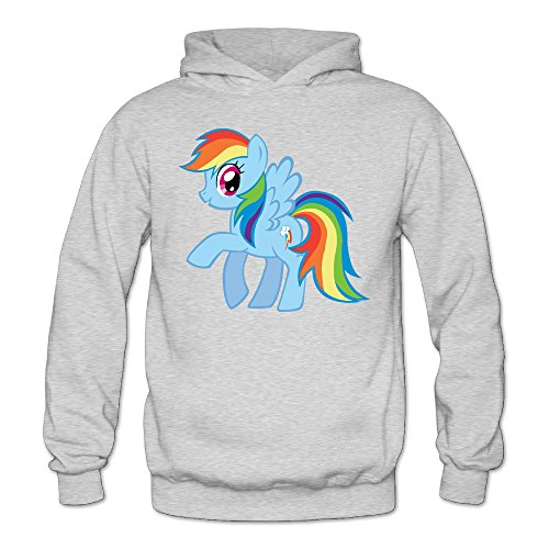 [XJBD Women's Rainbow Horse Novel Hoodie Ash Size XL] (Super Nerdy Costume)