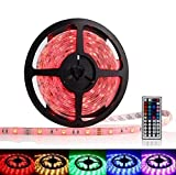 OxyLED® OCD-82 Waterproof RGB LED Strip Light Kit - 16.4ft, 300 LEDs, Color Changing SMD GRB 5050, Dimmable, 44 Key IR Remote Color: Without Charger Version Model: