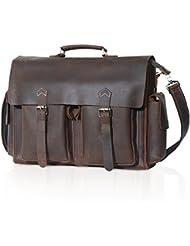 Lifewit Mens Messenger Bag Leather Waterproof Waxed Canvas Laptop Satchel Shoulder Briefcase