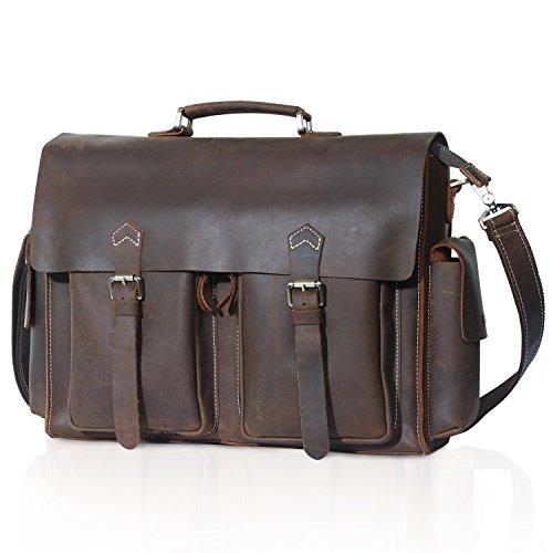 Lifewit Men's Leather Briefcase Laptop Bag Office Messenger Satchel Shoulder Computer Bags Fit up to 15.6