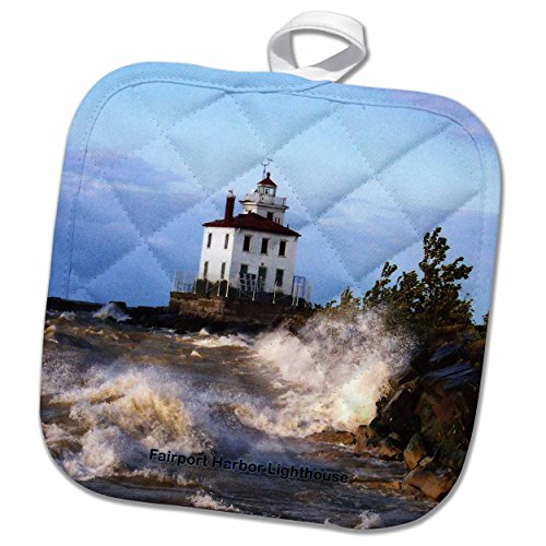 Fairport Harbor Lighthouse (3D Rose Fairport Harbor Lighthouse Looking Over Lake Erie Pot Holder, 8